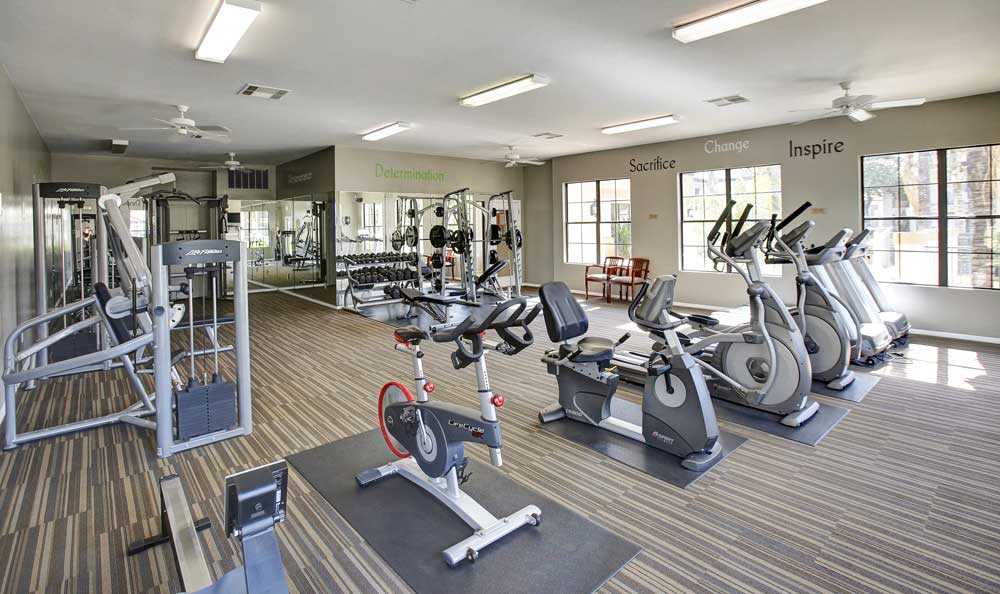 Fitness center at apartments in Tucson, Arizona