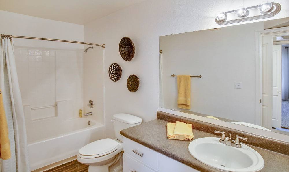 Beautiful bathroom at apartments in Tucson, Arizona
