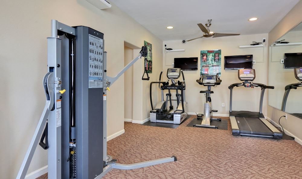 State-of-the-art fitness center at Vistas at Stony Creek Apartments in Littleton, Colorado