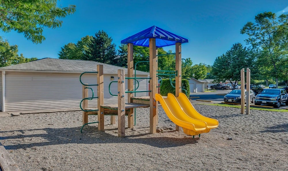 Playground at apartments in Olympia, Washington