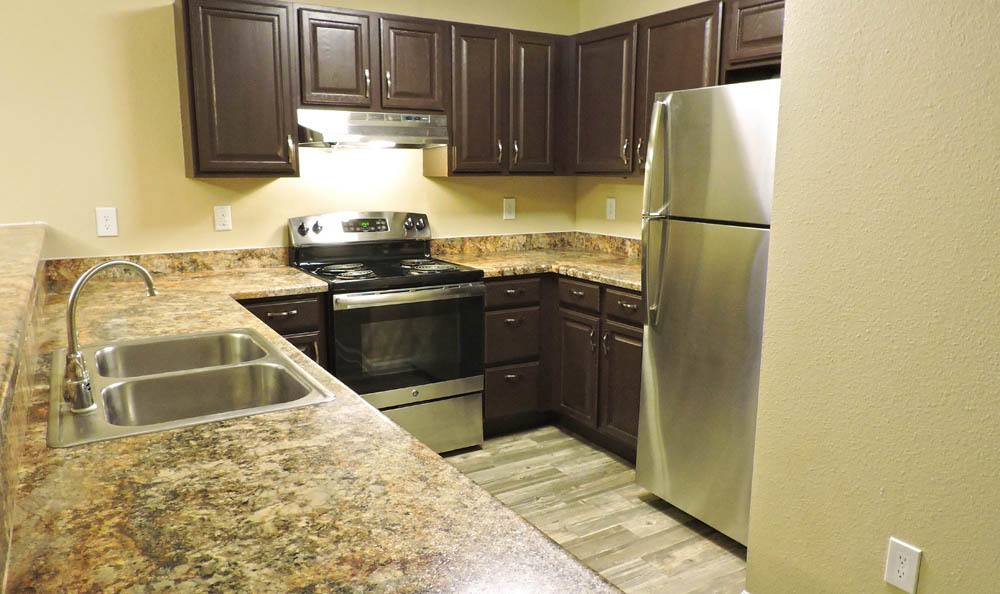 Enjoy a luxury kitchen at Belle Creek Apartments