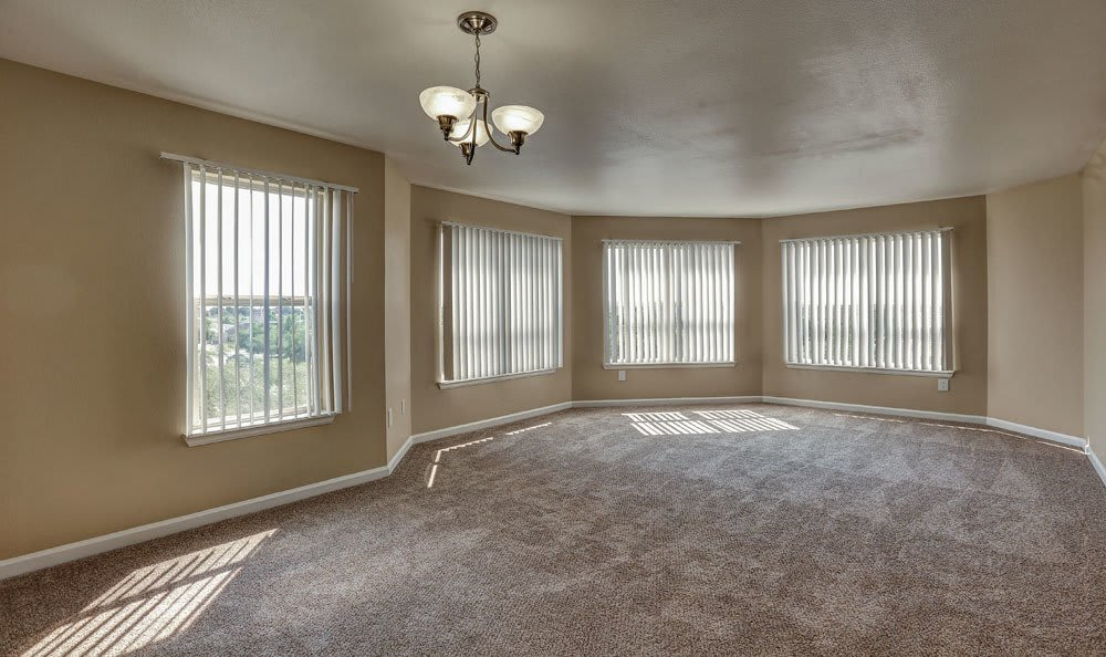 Spacious living room at apartments in Henderson, Colorado