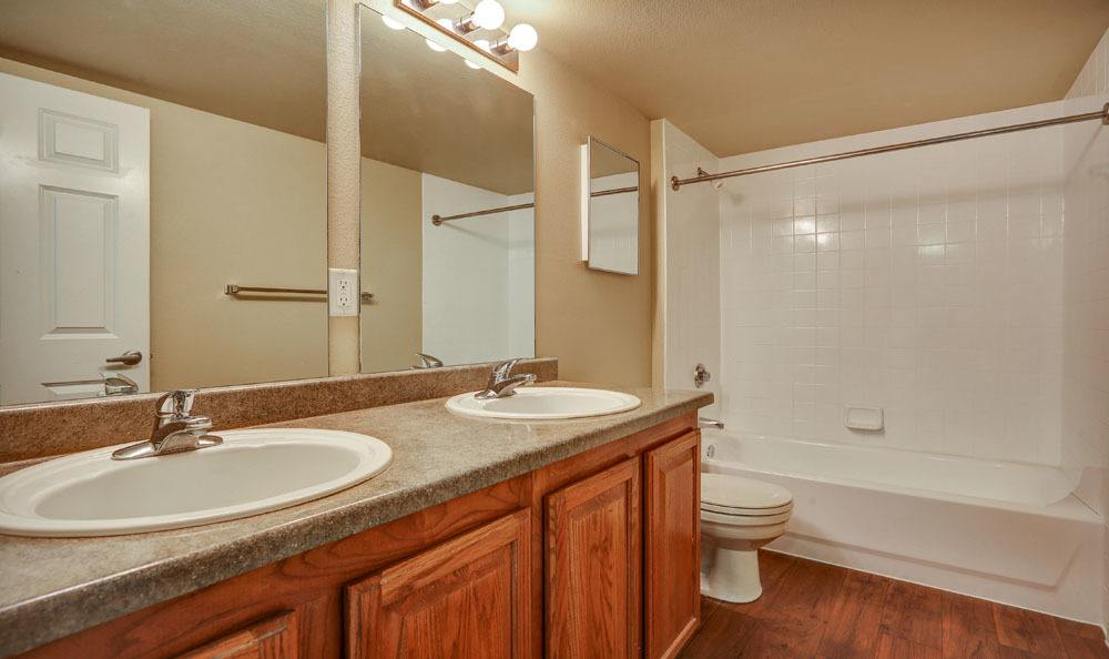 Beautiful bathroom at apartments in Henderson, Colorado