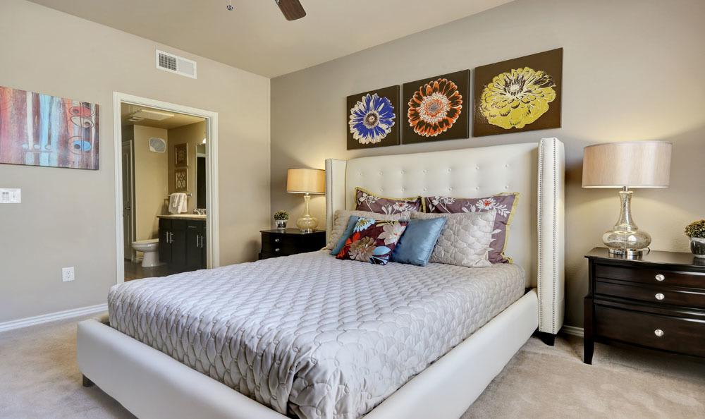 Beautiful bedroom at apartments in Thornton, Colorado