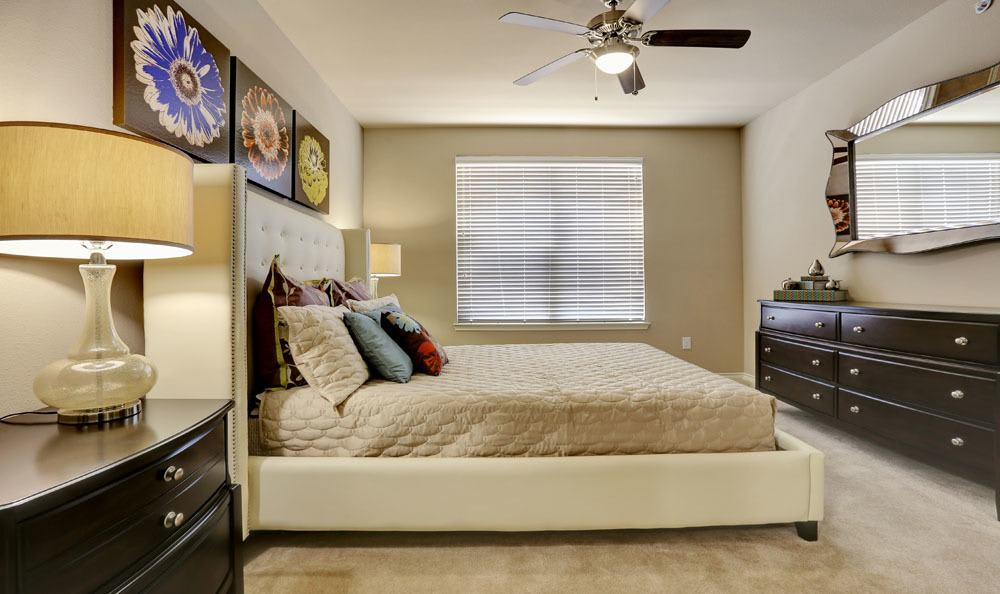 Enjoy a beautiful bedroom at Highpointe Park Apartment Homes