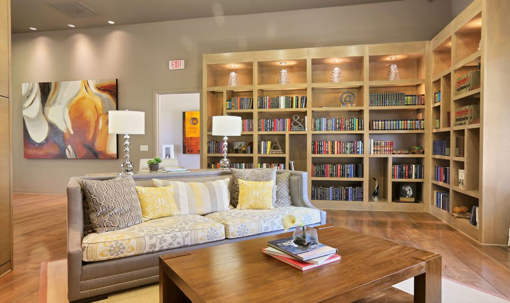 Library room at apartments in Thornton, Colorado