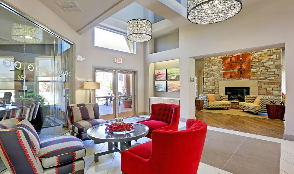 Shared living room at apartments in Thornton, Colorado