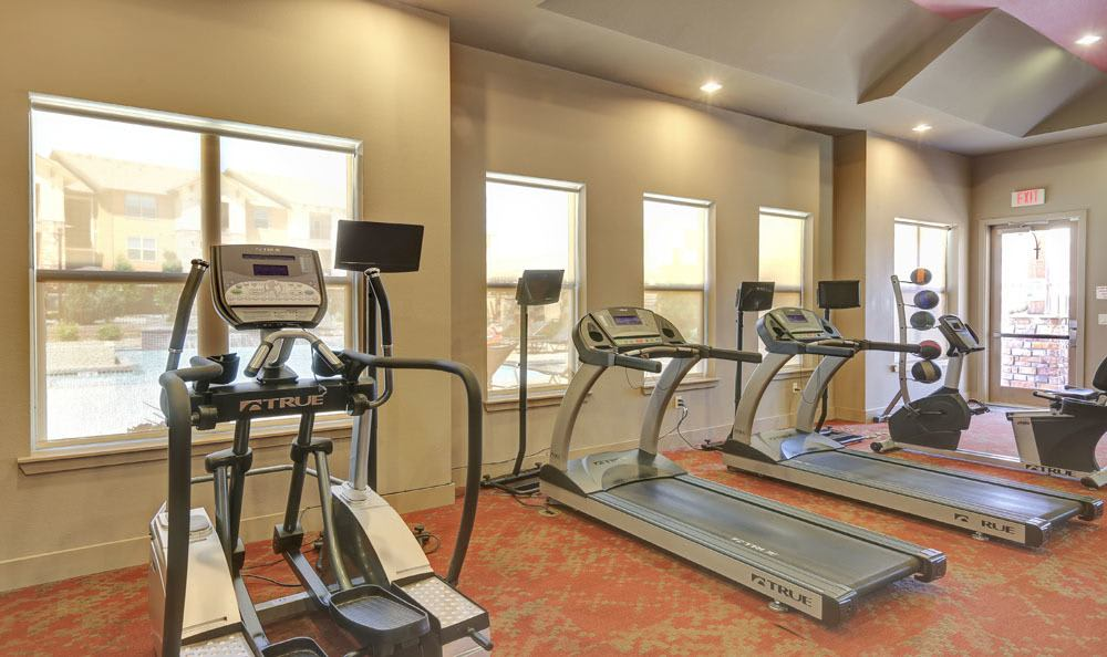 Fitness center at apartments in Thornton, Colorado