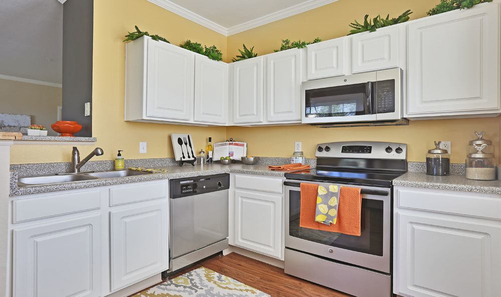 Dove Valley Apartments offers a kitchen in Englewood, Colorado