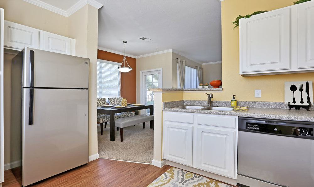 Spacious kitchen at apartments in Englewood, Colorado