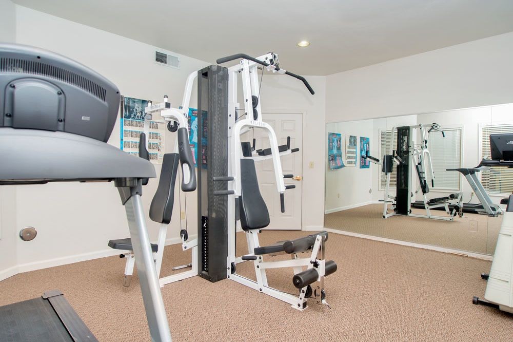 West Park Apartments offers a fitness center in Albuquerque, New Mexico