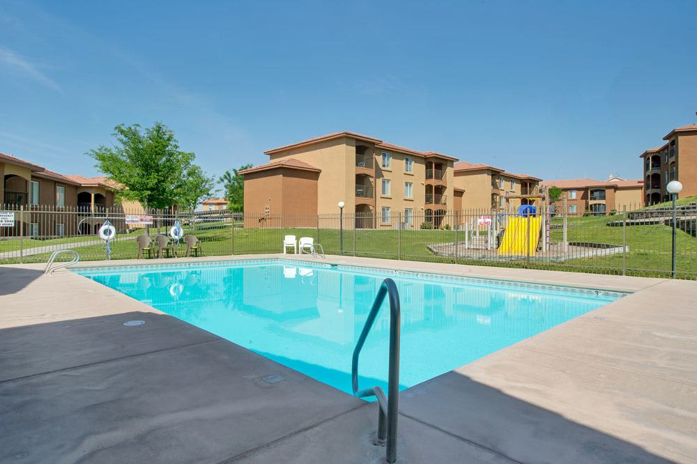 Swimming pool at West Park Apartments in Albuquerque, New Mexico