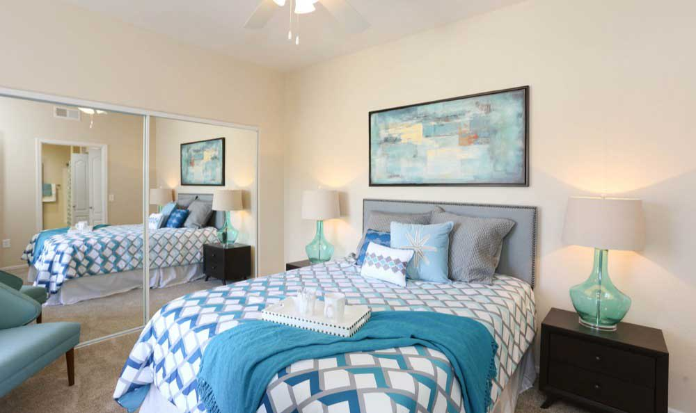Beautiful bedroom at apartments in Glendale, Arizona