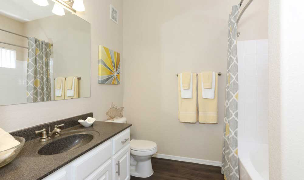 Luxury bathroom at Tresa at Arrowhead Apartments in Glendale, Arizona