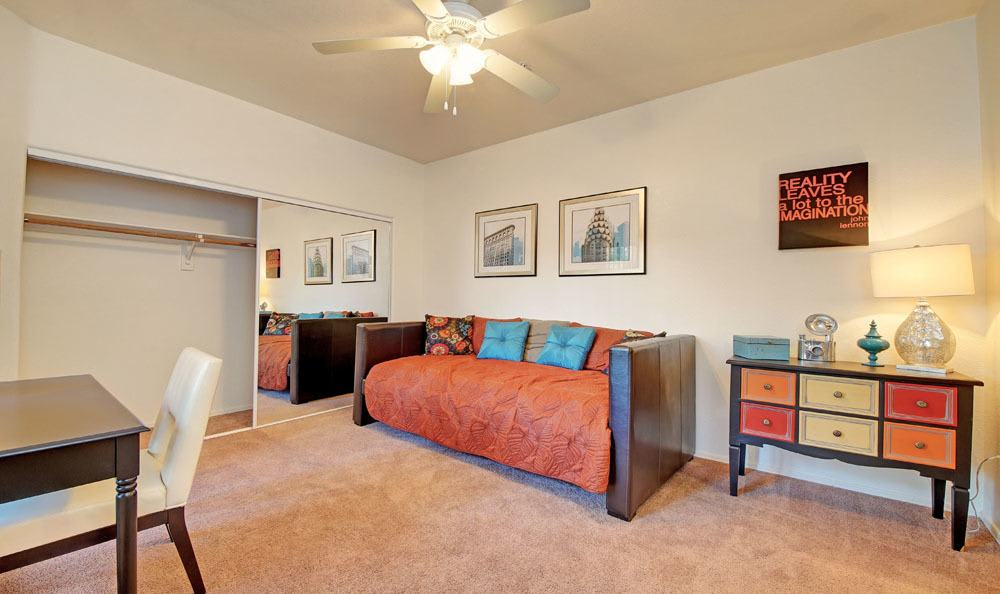Spacious living room at Tresa at Arrowhead Apartments in Glendale, Arizona