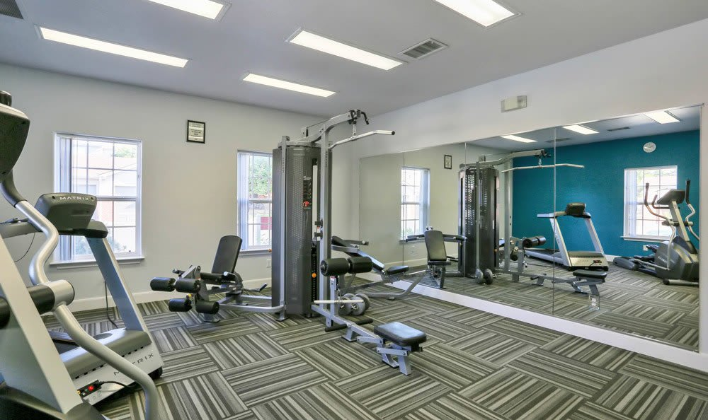 Fitness center at apartments in Fort Collins, Colorado