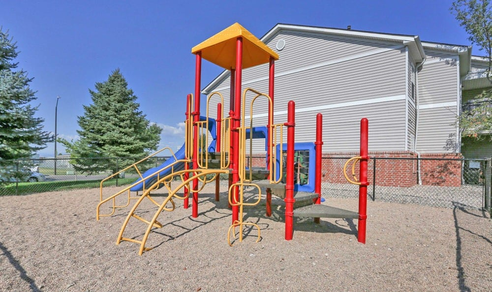 Playground at apartments in Fort Collins, Colorado