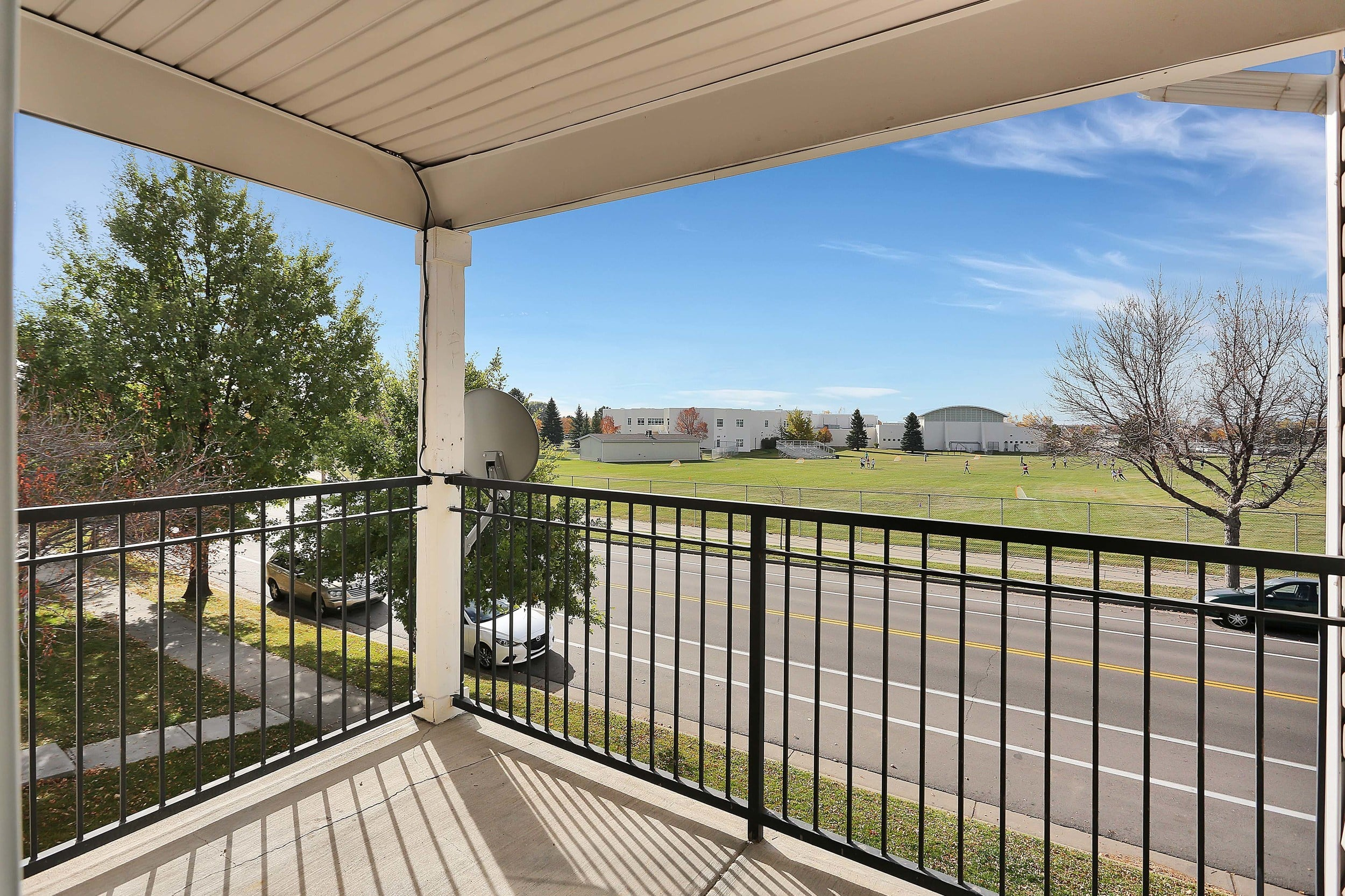 Balcony Exterior View at Country Ranch Apartments in Fort Collins, Colorado