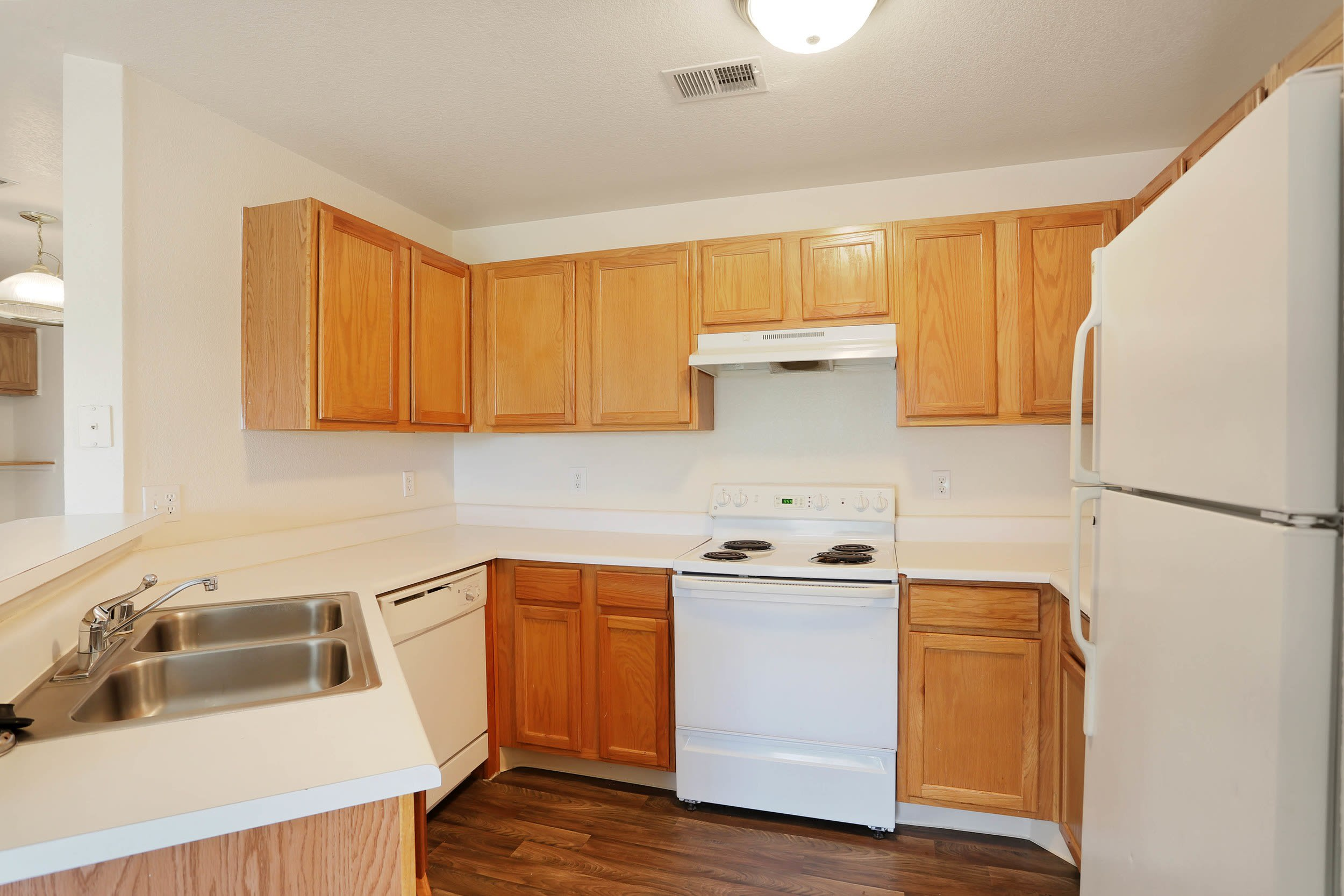 Spacious kitchen at Country Ranch Apartments in Fort Collins, Colorado