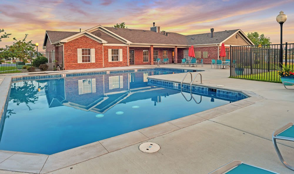 Swimming pool at Waterford Place Apartments in Loveland, Colorado