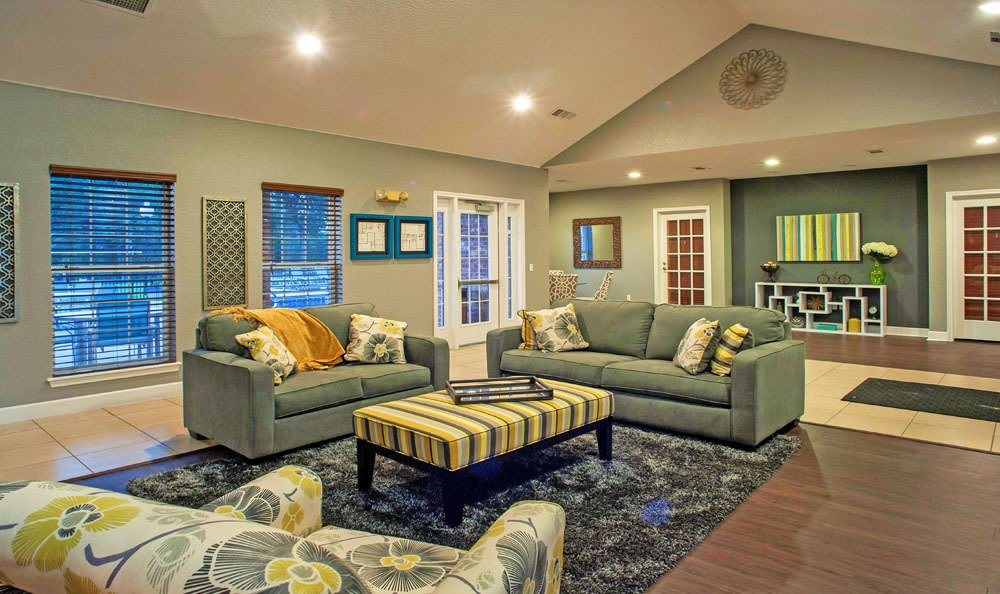Beautiful living room at apartments in Loveland, Colorado