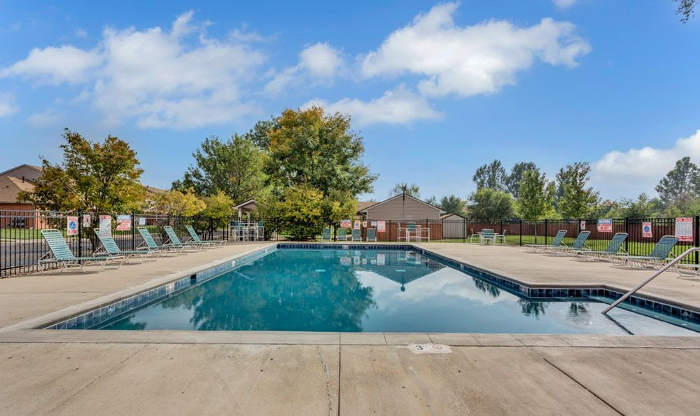 Swimming pool at Bull Run Townhomes in Fort Collins, Colorado