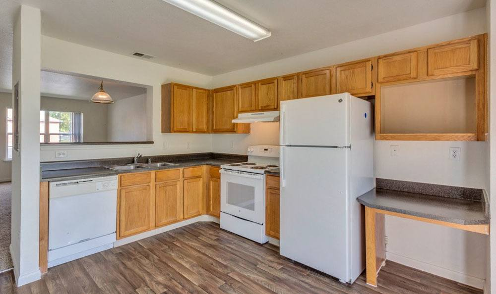 Kitchen at apartments in Fort Collins, Colorado