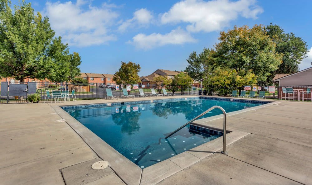Swimming pool at apartments in Fort Collins, Colorado