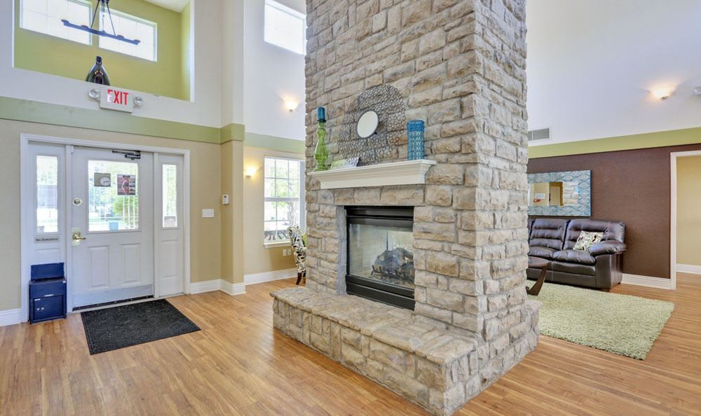 Luxury living room at Buffalo Run Apartments in Fort Collins, Colorado