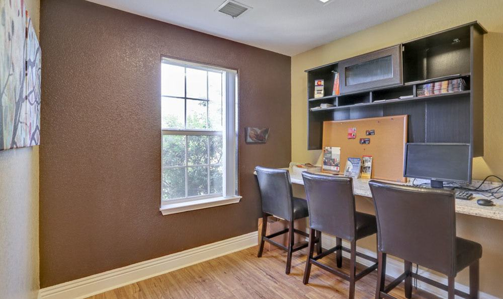 Study room at Buffalo Run Apartments in Fort Collins, Colorado