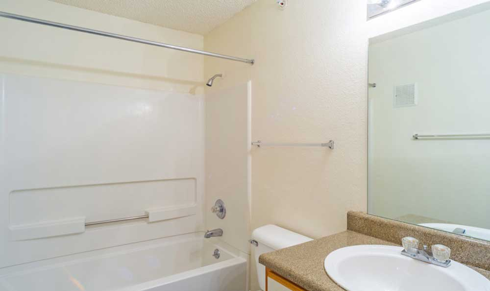 Example bathroom at apartments in Central City