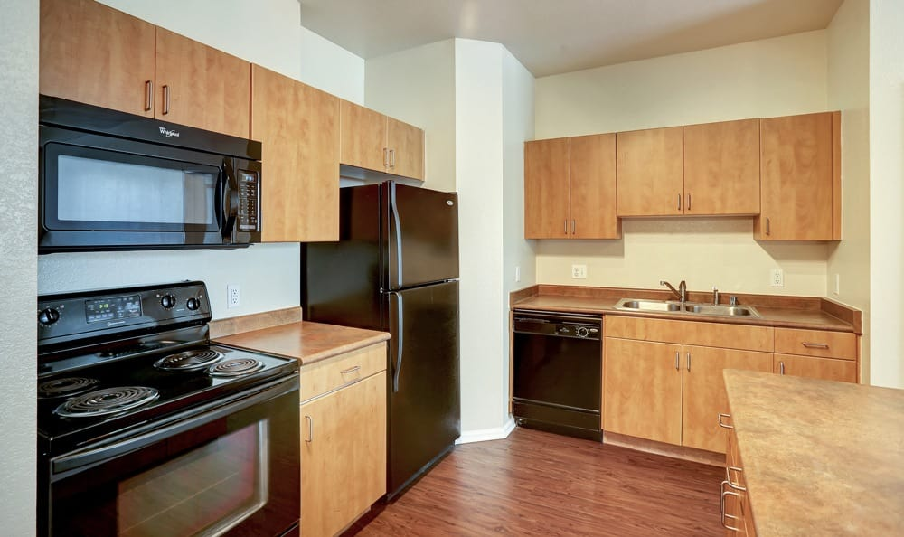 Spacious kitchen at Diamond at Prospect Apartments in Denver, Colorado