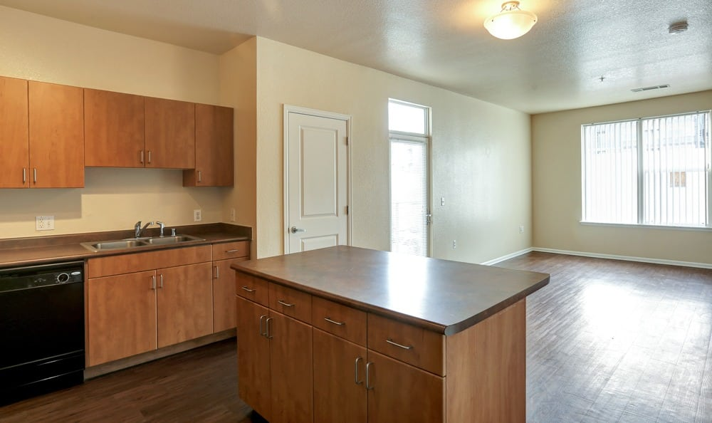 Spacious Kitchen room at Diamond at Prospect Apartments in Denver, Colorado