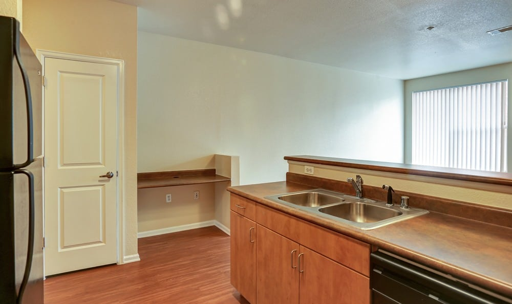 Diamond at Prospect Apartments offers a kitchen in Denver, Colorado