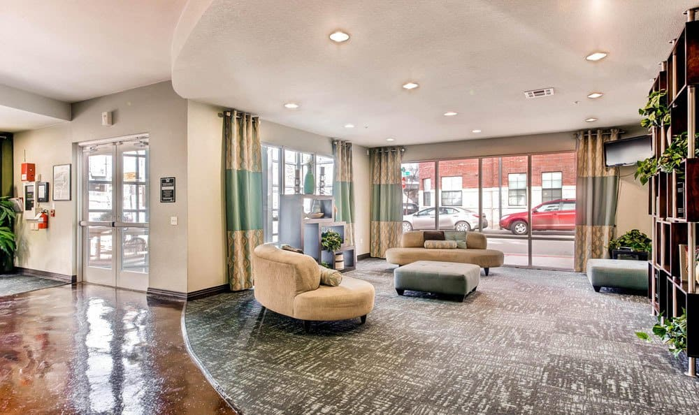Lobby at apartments in Denver, Colorado