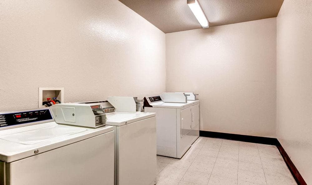 Laundry facility at apartments in Denver, Colorado