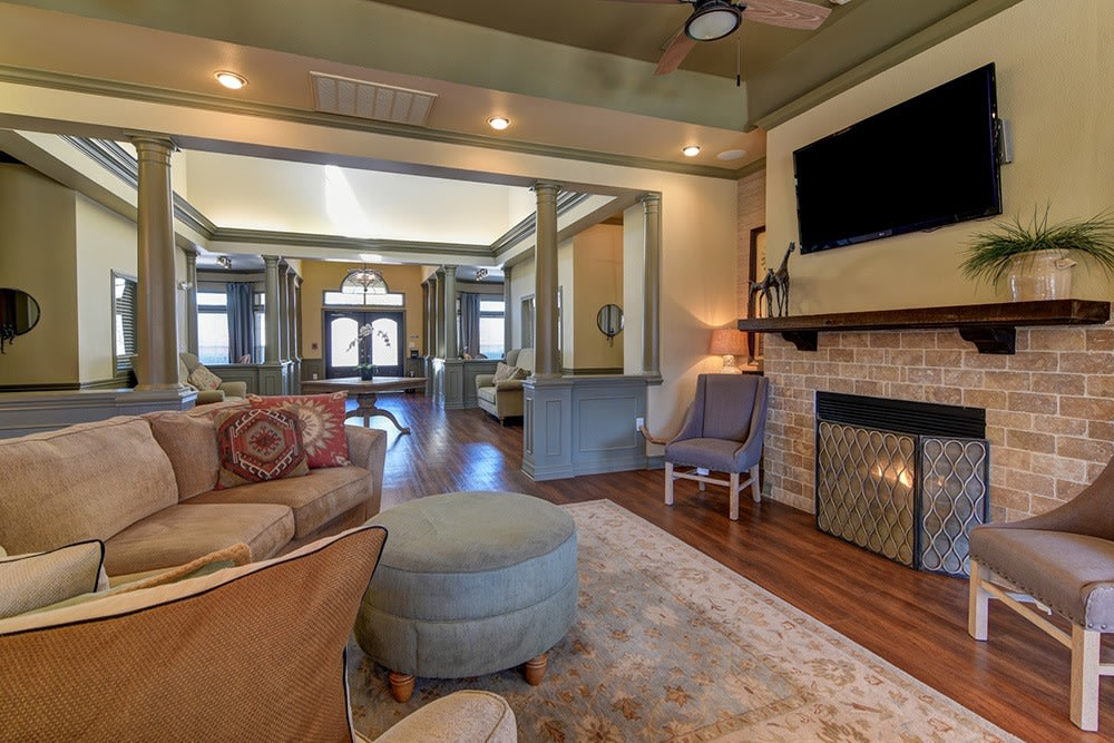 Luxury entry area at The BLVD at Medical Center Apartments