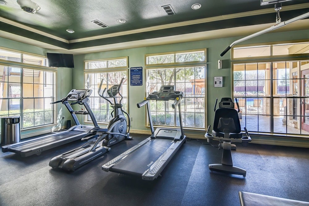 24-hour fitness center at The BLVD at Medical Center Apartments