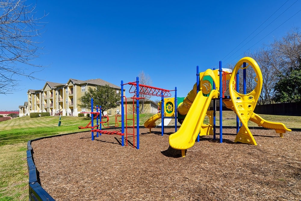 Children's play area at The BLVD at Medical Center Apartments
