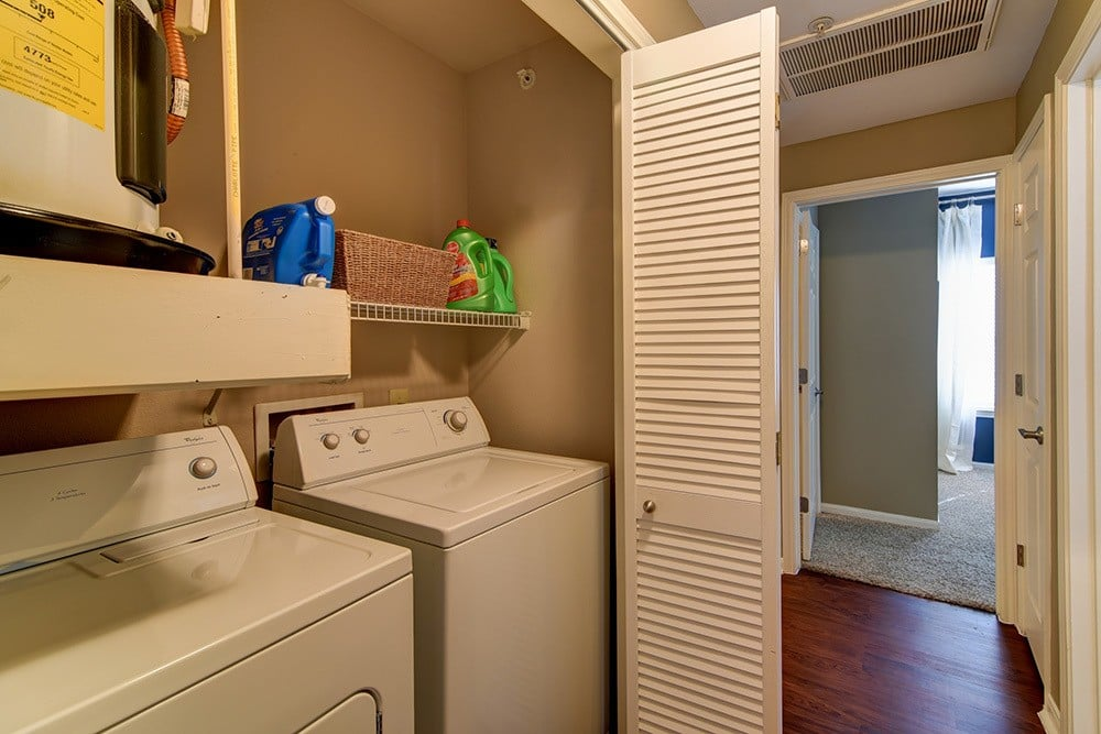 Washing machine and dryer included at The BLVD at Medical Center Apartments