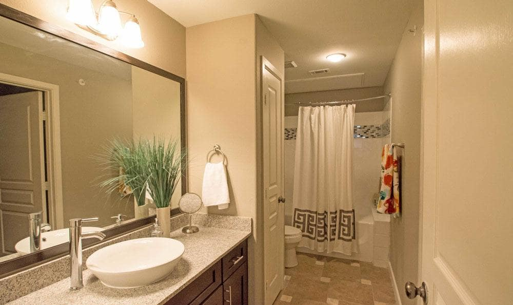 Beautiful bathroom at apartments in San Antonio, Texas