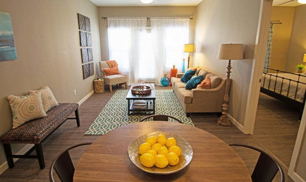 Spacious living room at apartments in San Antonio, Texas