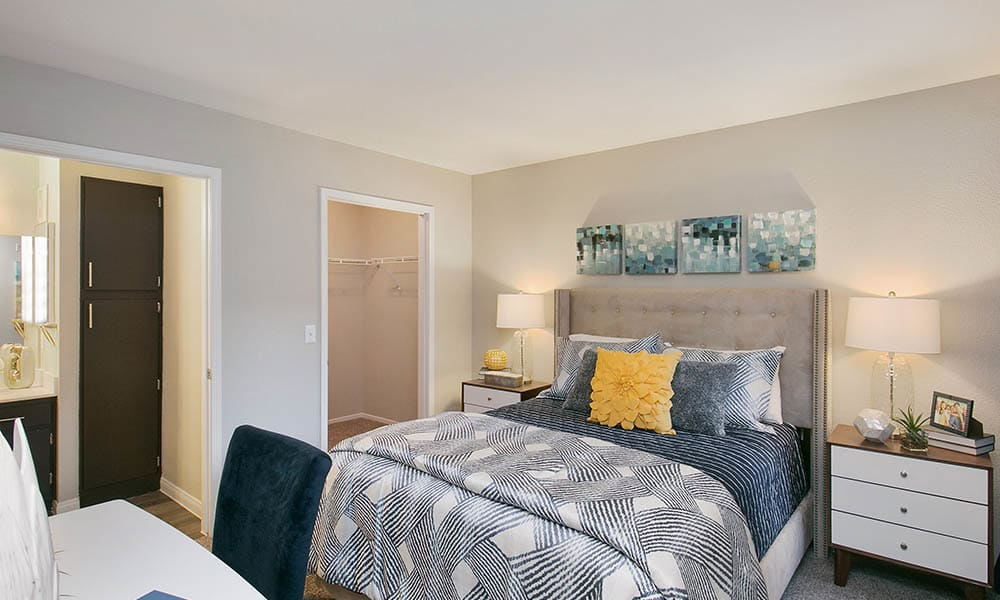 Master bedroom at Ascent at Silverado