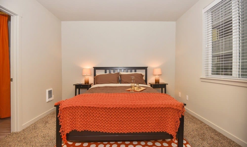 Enjoy a beautiful bedroom at Rock Creek Commons