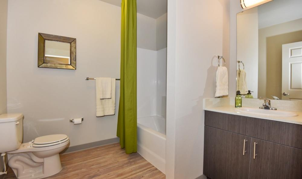 Rock Creek Commons offers a beautiful bathroom in Vancouver, Washington