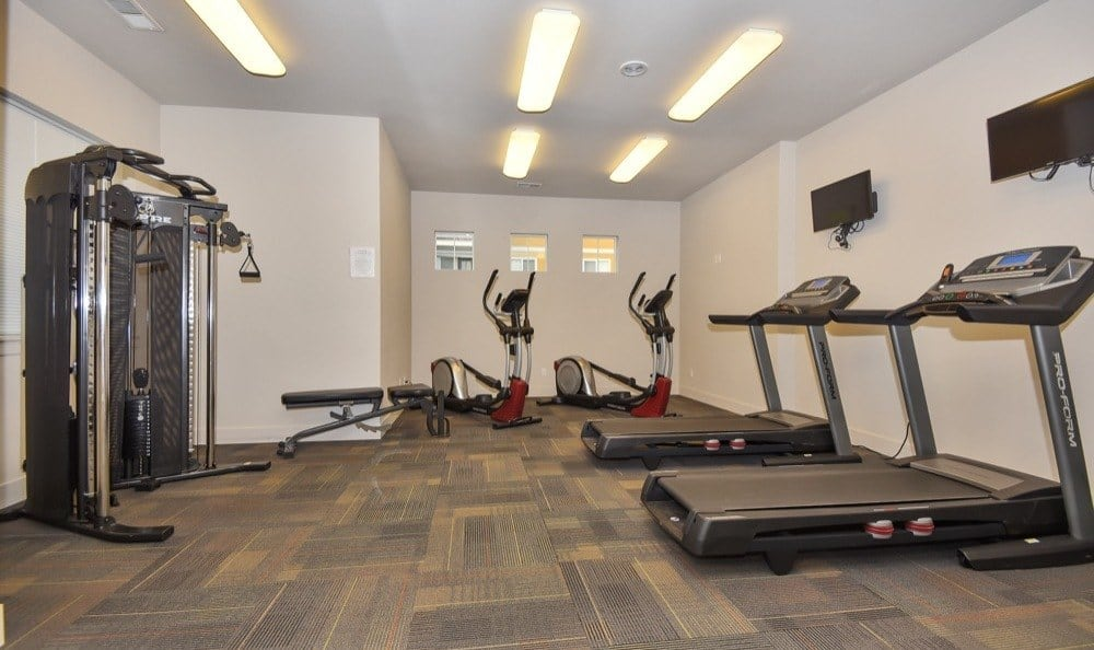 Modern fitness center at apartments in Vancouver, Washington