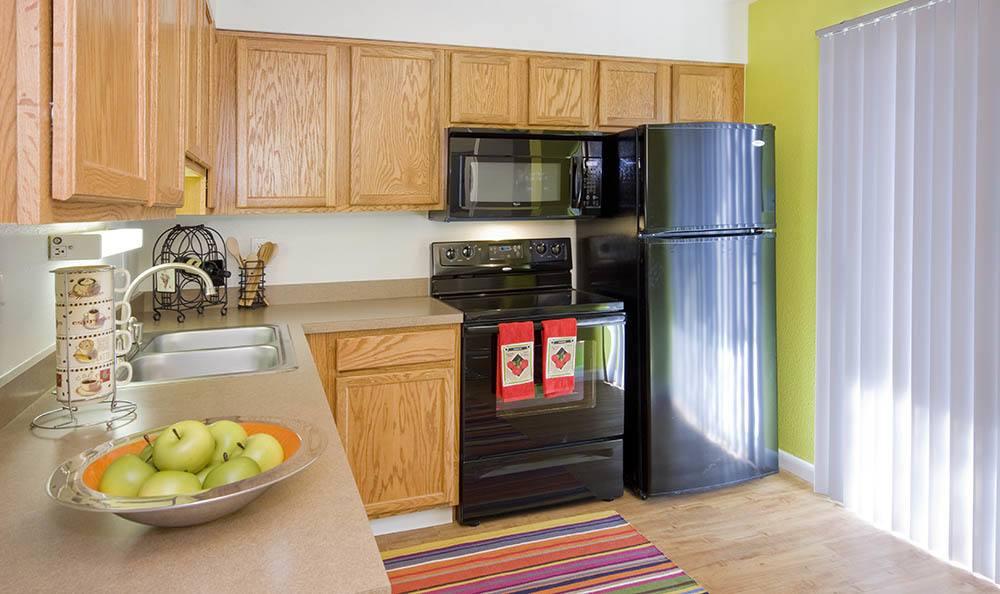 Beautiful kitchen at Broadmoor Ridge Apartment Homes in Colorado Springs, Colorado