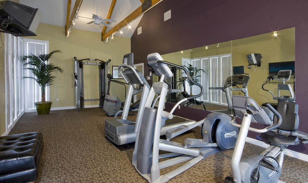 Fitness center for residents of Broadmoor Ridge Apartment Homes in Colorado Springs