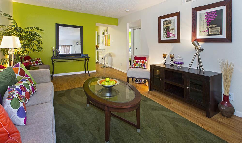 Apartment living room at Broadmoor Ridge Apartment Homes