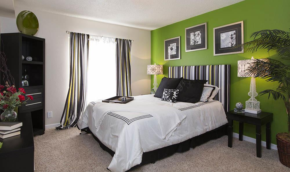 Beautiful bedroom at apartments in Colorado Springs, Colorado